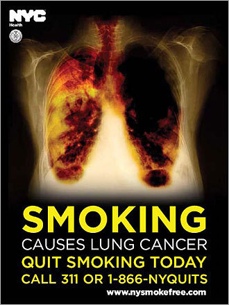 Anti-smoking poster.